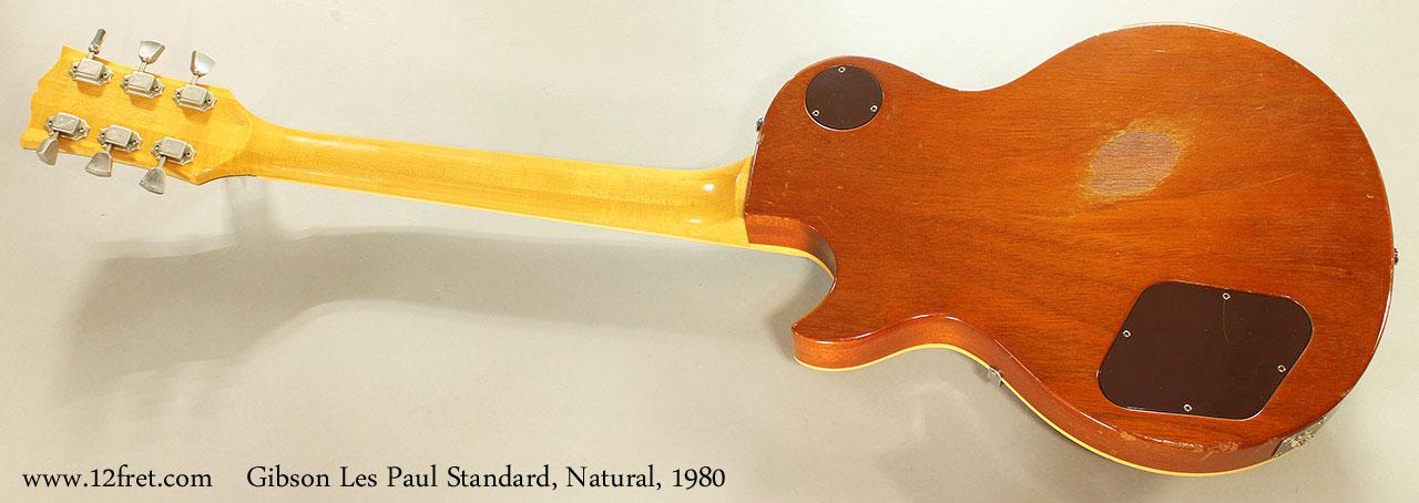Gibson Les Paul Standard, Natural, 1980 Full Rear View