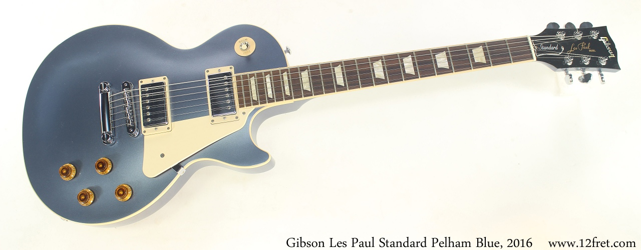 Gibson Les Paul Standard Pelham Blue, 2016 Full Front View