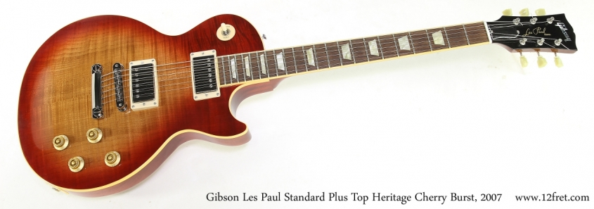 Gibson Les Paul Standard Plus Top Heritage Cherry Burst, 2007   Full Front VIew