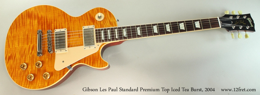Gibson Les Paul Standard Premium Top Iced Tea Burst, 2004 Full Front View