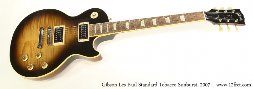 Gibson Les Paul Standard Tobacco Sunburst, 2007   Full Front View