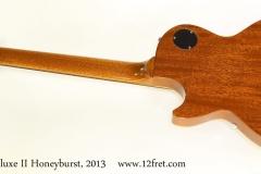 Gibson Les Paul Studio Deluxe II Honeyburst, 2013   Full Rear View