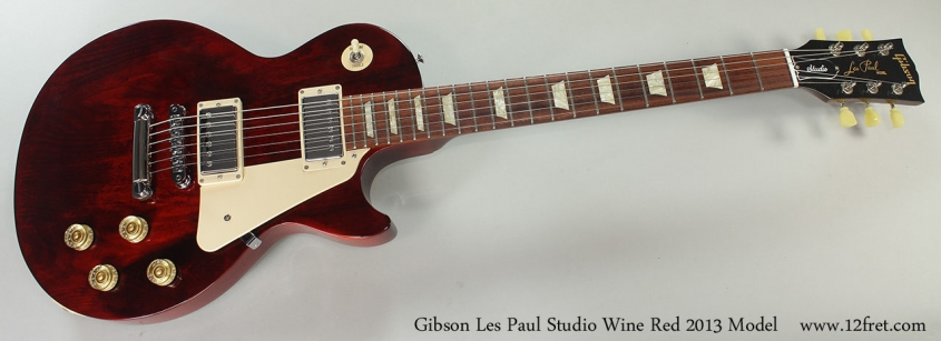 Gibson Les Paul Studio Wine Red 2013 Model Full Front VIew