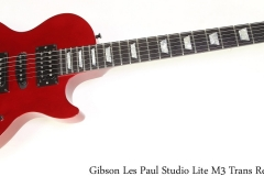 Gibson Les Paul Studio Lite M3 Trans Red, 1992 Full Front View