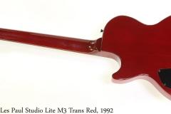 Gibson Les Paul Studio Lite M3 Trans Red, 1992 Full Rear View