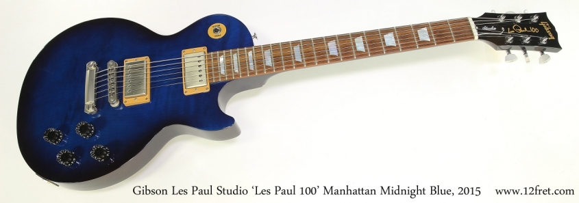 Gibson Les Paul Studio 'Les Paul 100' Manhattan Midnight Blue, 2015  Full Front View