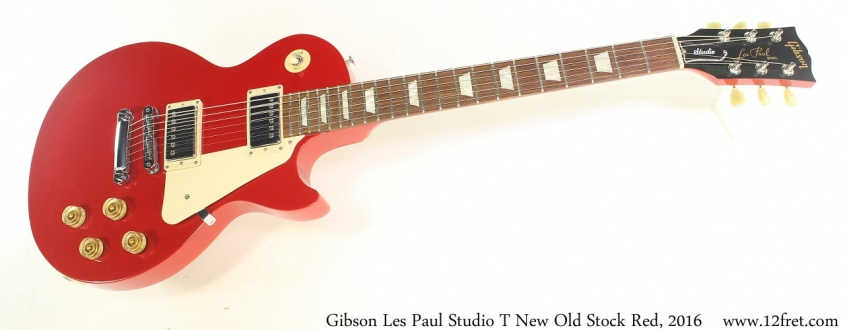 Gibson Les Paul Studio T New Old Stock Red, 2016 Full Front View