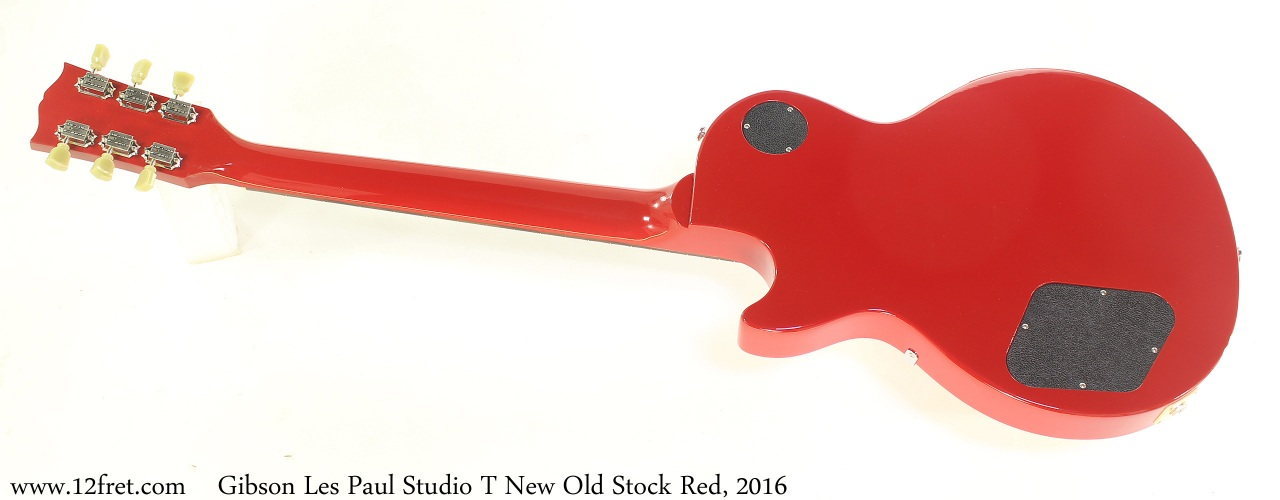 Gibson Les Paul Studio T New Old Stock Red, 2016 Full Rear View