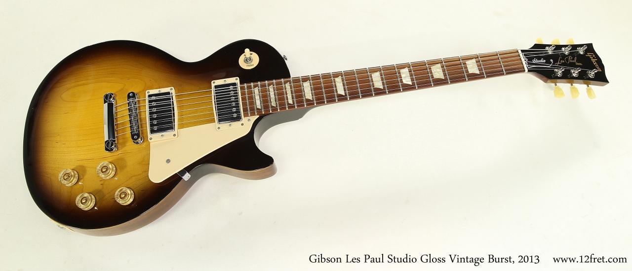 Gibson Les Paul Studio Gloss Vintage Burst, 2013 Full Front View