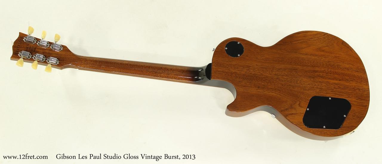 Gibson Les Paul Studio Gloss Vintage Burst, 2013 Full Rear View