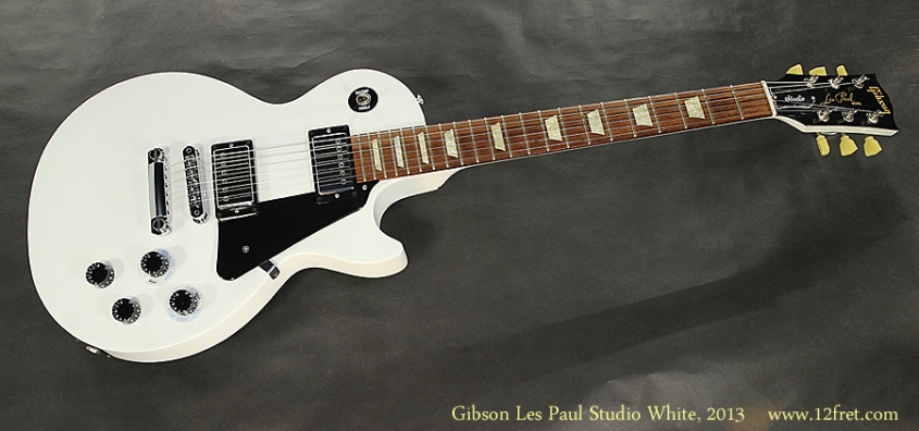 Gibson Les Paul Studio Arctic White, 2013 Full Front View