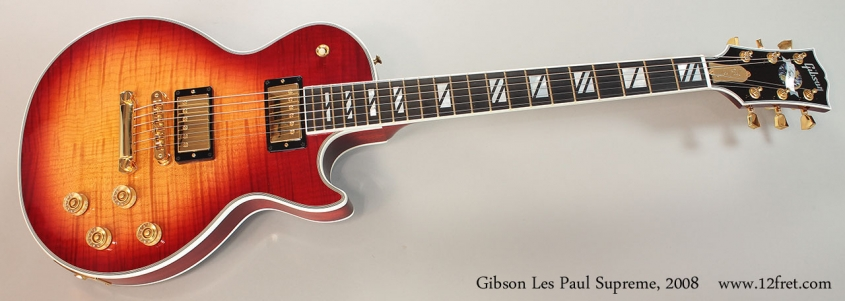 Gibson Les Paul Supreme, 2008 Full Front View
