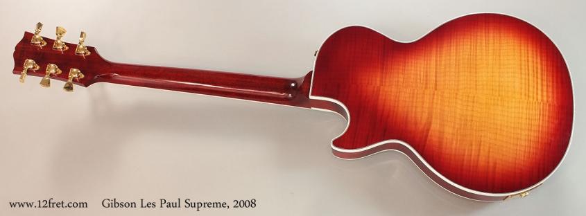 Gibson Les Paul Supreme, 2008 Full Rear View