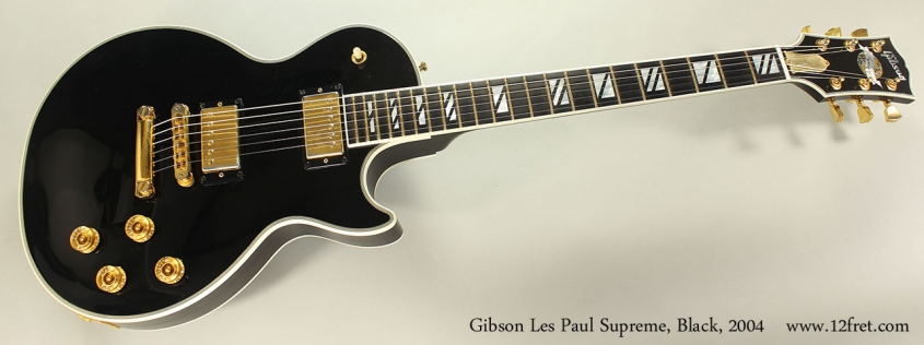 Gibson Les Paul Supreme, Black, 2004 Full Front View
