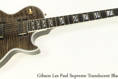 Gibson Les Paul Supreme Translucent Black, 2012 Full Front View