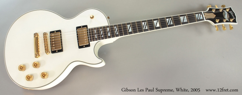 Gibson Les Paul Supreme, White, 2005 Full Front View