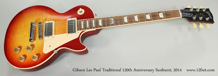 Gibson Les Paul Traditional 120th Anniversary Sunburst, 2014 Full Front View