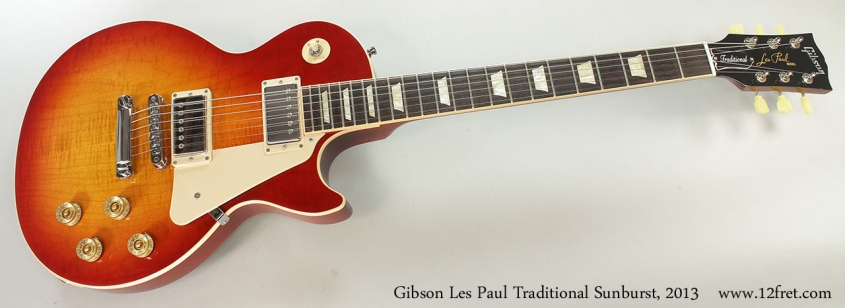 Gibson Les Paul Traditional Sunburst, 2013 Full Front View