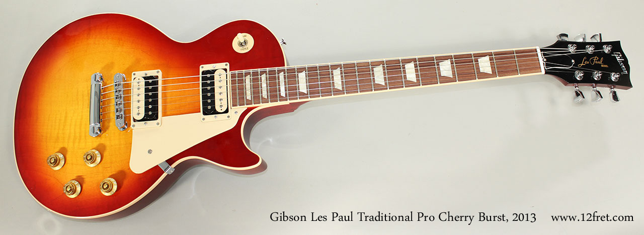Gibson Les Paul Traditional Pro Cherry Burst, 2013 Full Front View