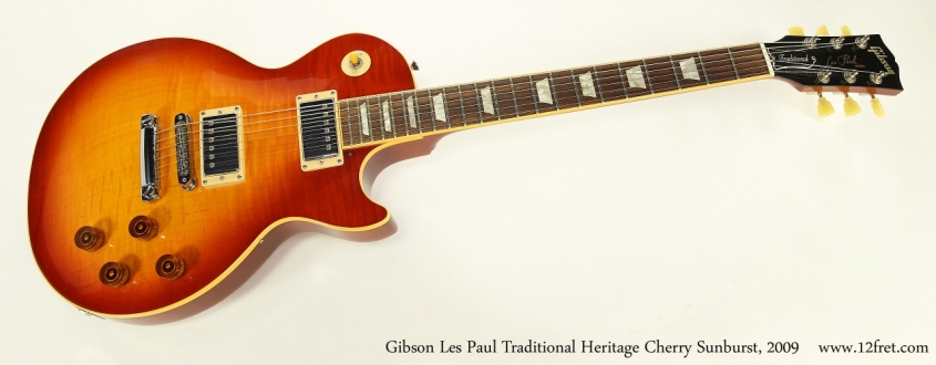 Gibson Les Paul Traditional Heritage Cherry Sunburst, 2009  Full Front View