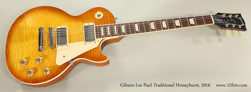 Gibson Les Paul Traditional Honeyburst, 2016 Full Front View
