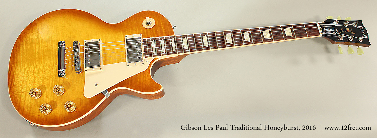 2016 gibson les paul traditional honeyburst. Black Bedroom Furniture Sets. Home Design Ideas