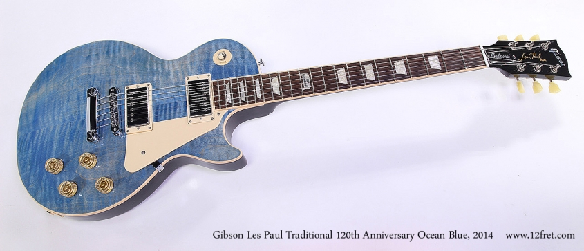 Gibson Les Paul Traditional 120th Anniversary Ocean Blue, 2014 Full Front View