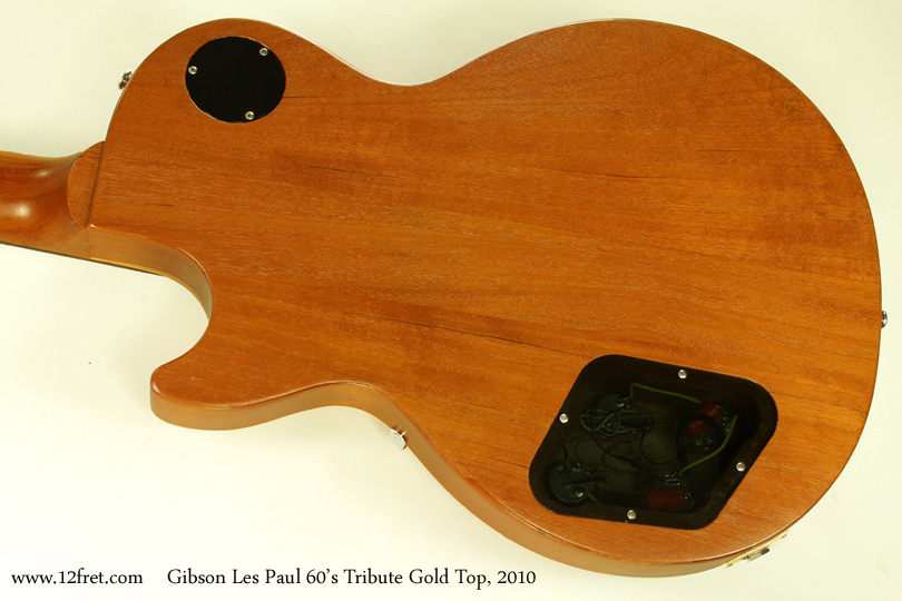 Gibson Les Paul 1960s Tribute Gold Top 2010 back