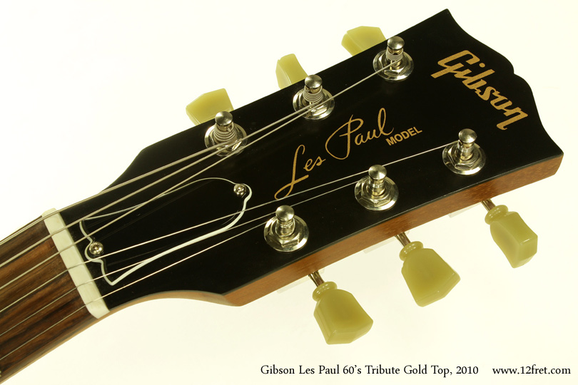 Gibson Les Paul 1960s Tribute Gold Top 2010 head front