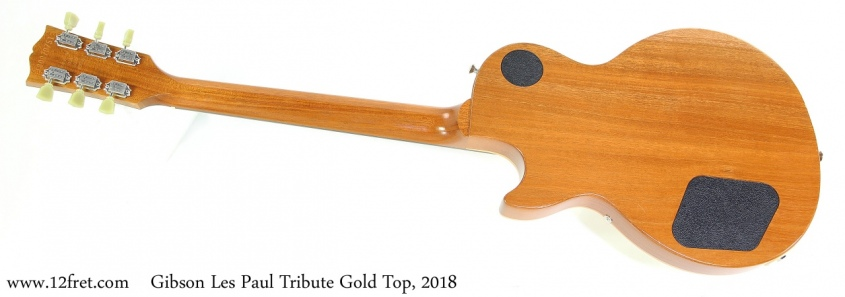 Gibson Les Paul Tribute Gold Top, 2018 Full Rear View