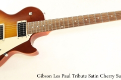 Gibson Les Paul Tribute Satin Cherry Sunburst Full Front View