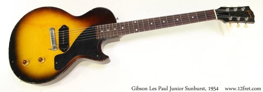 Gibson Les Paul Junior Sunburst, 1954 Full Front View