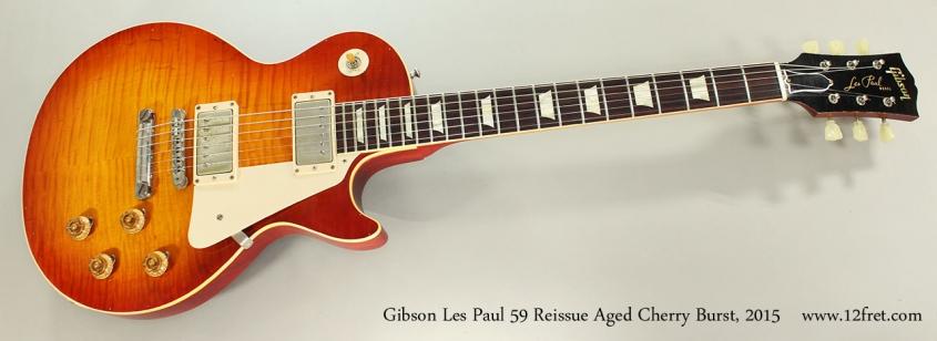 Gibson Les Paul 59 Reissue Aged Cherry Burst, 2015 Full Front View