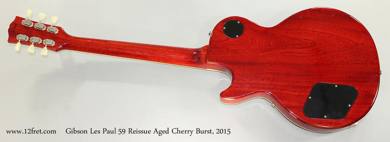 Gibson Les Paul 59 Reissue Aged Cherry Burst, 2015 Full Rear View