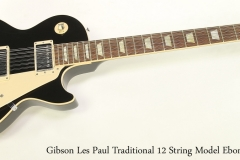 Gibson Les Paul Traditional 12 String Model Ebony, 2012 Full Front View