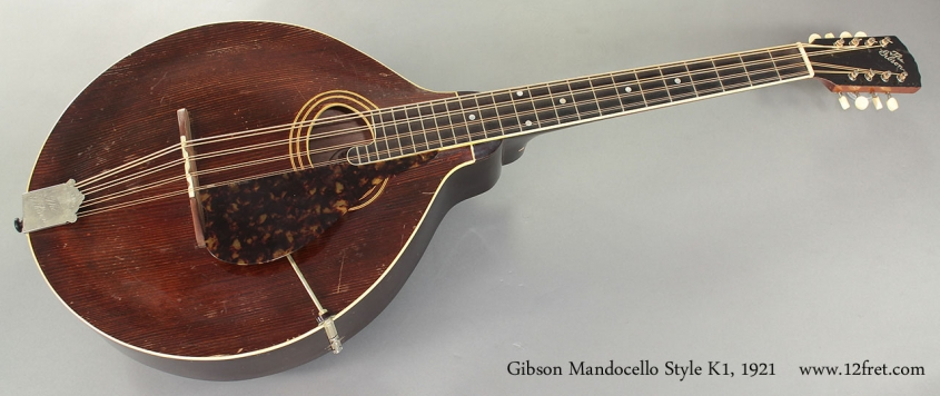Gibson Mandocello Style K1 1921 full front view