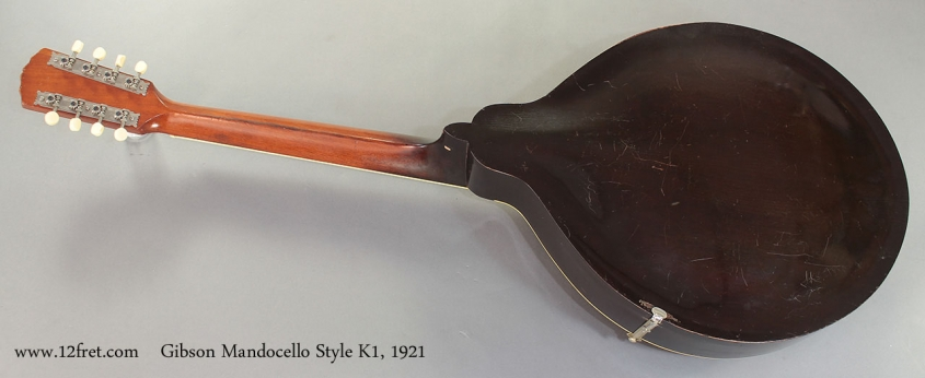 Gibson Mandocello Style K1 1921 full rear view