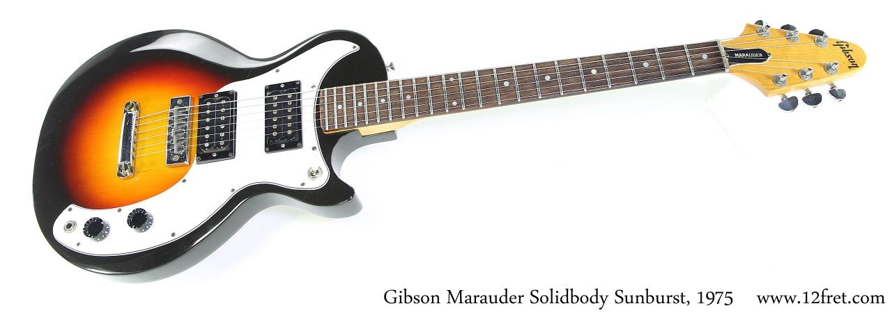 Gibson Marauder Solidbody Sunburst, 1975 Full Front View