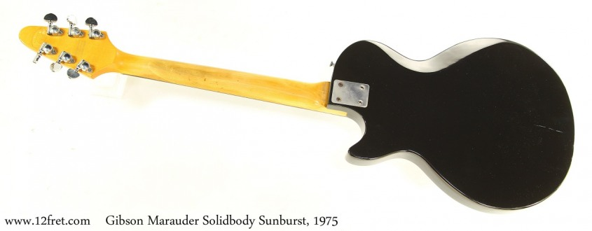 Gibson Marauder Solidbody Sunburst, 1975 Full Rear View