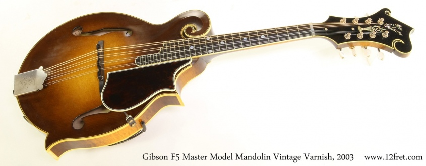 Gibson F5 Master Model Mandolin Vintage Varnish, 2003 Full Front View