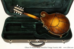 Gibson F5 Master Model Mandolin Vintage Varnish, 2003 Case Open Rear View