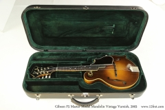 Gibson F5 Master Model Mandolin Vintage Varnish, 2003 Case Open Front View
