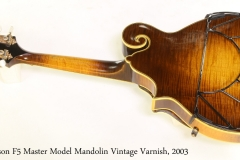 Gibson F5 Master Model Mandolin Vintage Varnish, 2003 Full Rear View