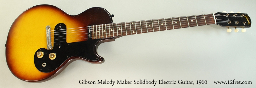 Gibson Melody Maker Solidbody Electric Guitar, 1960 Full Front View