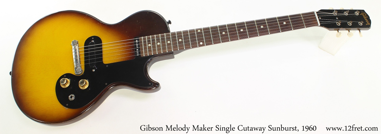 Gibson Melody Maker Single Cutaway Sunburst, 1960 Full Front View