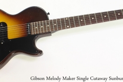 Gibson Melody Maker Single Cutaway Sunburst, 1960 Full Front View
