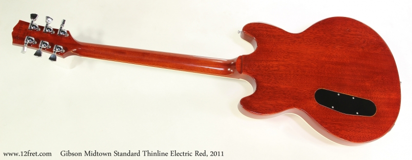 Gibson Midtown Standard Thinline Electric Red, 2011 Full Rear View