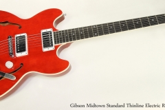 Gibson Midtown Standard Thinline Electric Red, 2011 Full Front View