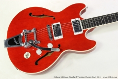 Gibson Midtown Standard Thinline Electric Red, 2011   Top View