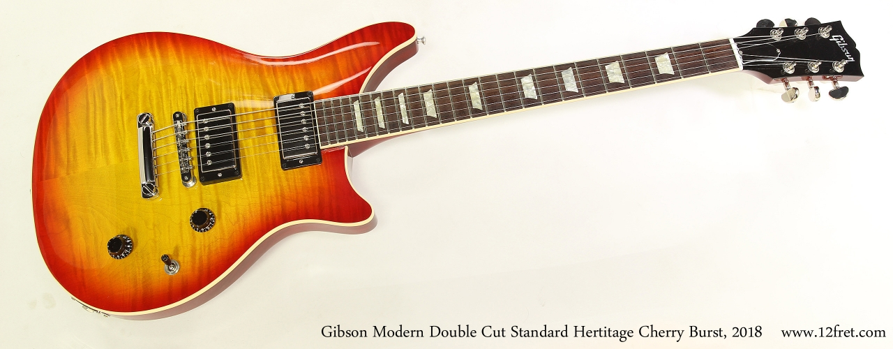 Gibson Modern Double Cut Standard Hertitage Cherry Burst, 2018  Full Front View